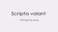 Anime: Scripta Volant: Writings fly away