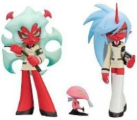 Panty & Stocking with Garterbelt - Figuren: Scanty, Kneesocks, Fastener