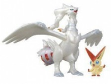 Pokémon: Best Wishes! - Actionfiguren: Reshiram, Victini