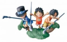 One Piece - Figur: Sabo, Monkey D. Luffy, Monkey D. Luffy
