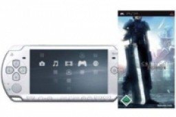 Final Fantasy VII - Crisis Core + PlayStation Portable - Konsole Slim&Lite Ice Silver