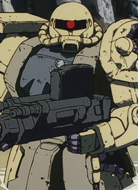 """MS-06J Zaku II Ground Type"" ist ein Charakter aus dem Anime ""Kidou Senshi Gundam: Dai 08 MS Shoutai""."