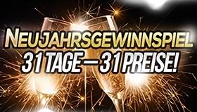 News: Das große Neujahrsgewinnspiel: 31 Tage – 31 Preise! - UPDATE